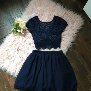 Two piece formal dress